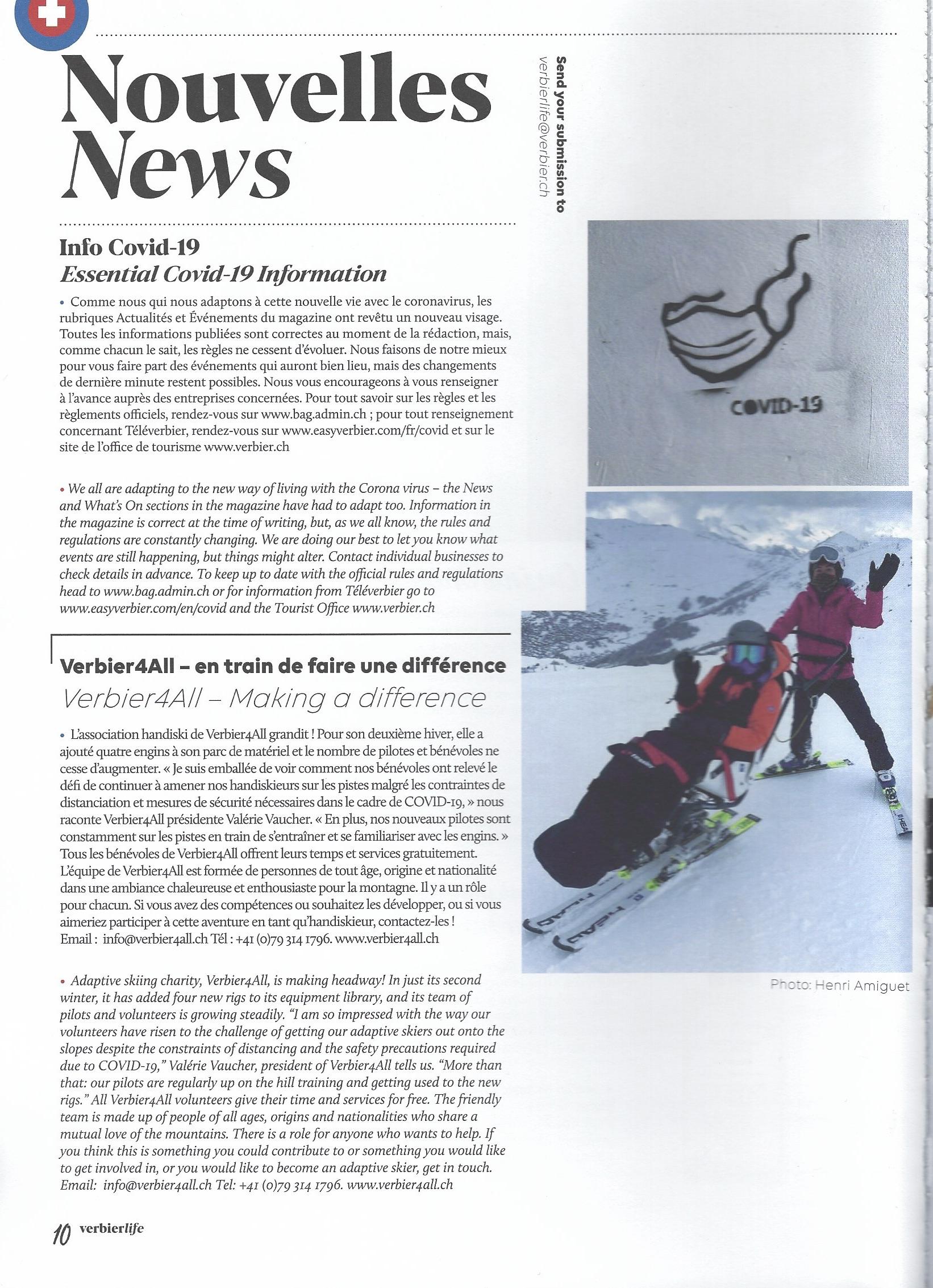Verbier Life news item Feb 2021